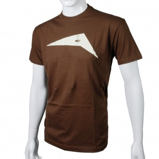 T-Shirt With Beige Print Brown