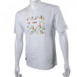 White T-Shirt With Total 7 Dots