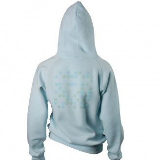 Sky Blue Hoodie With Total Dots