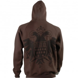 Dark Brown Hoodie With Black Speicher Logo
