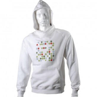 White Hoodie With Total 7 Dots