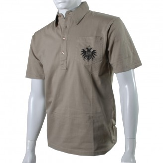 Olive Polo Shirt With Black Speicher Logo