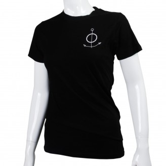 The Field T-Shirt With White Anchor On Front Black