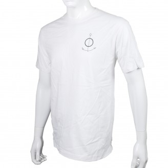 The Field T-Shirt With Black Anchor On Chest White