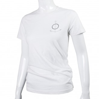 The Field T-Shirt With Black Anchor On Front White