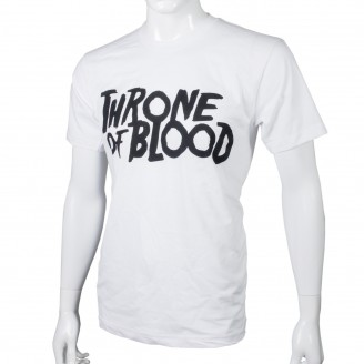 T-Shirt With Throne Of Blood Logo - White