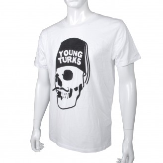 T-Shirt With Black Young Turks Logo White