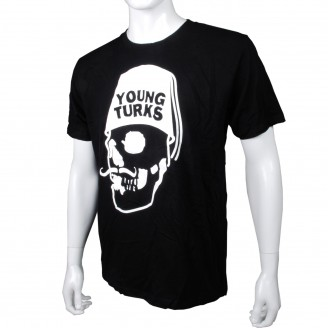 T-Shirt With White Young Turks Logo Black