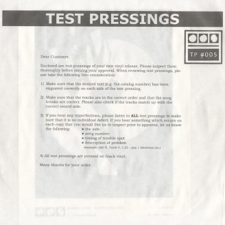 Testpressing#005: Procrastination / Past Majesty